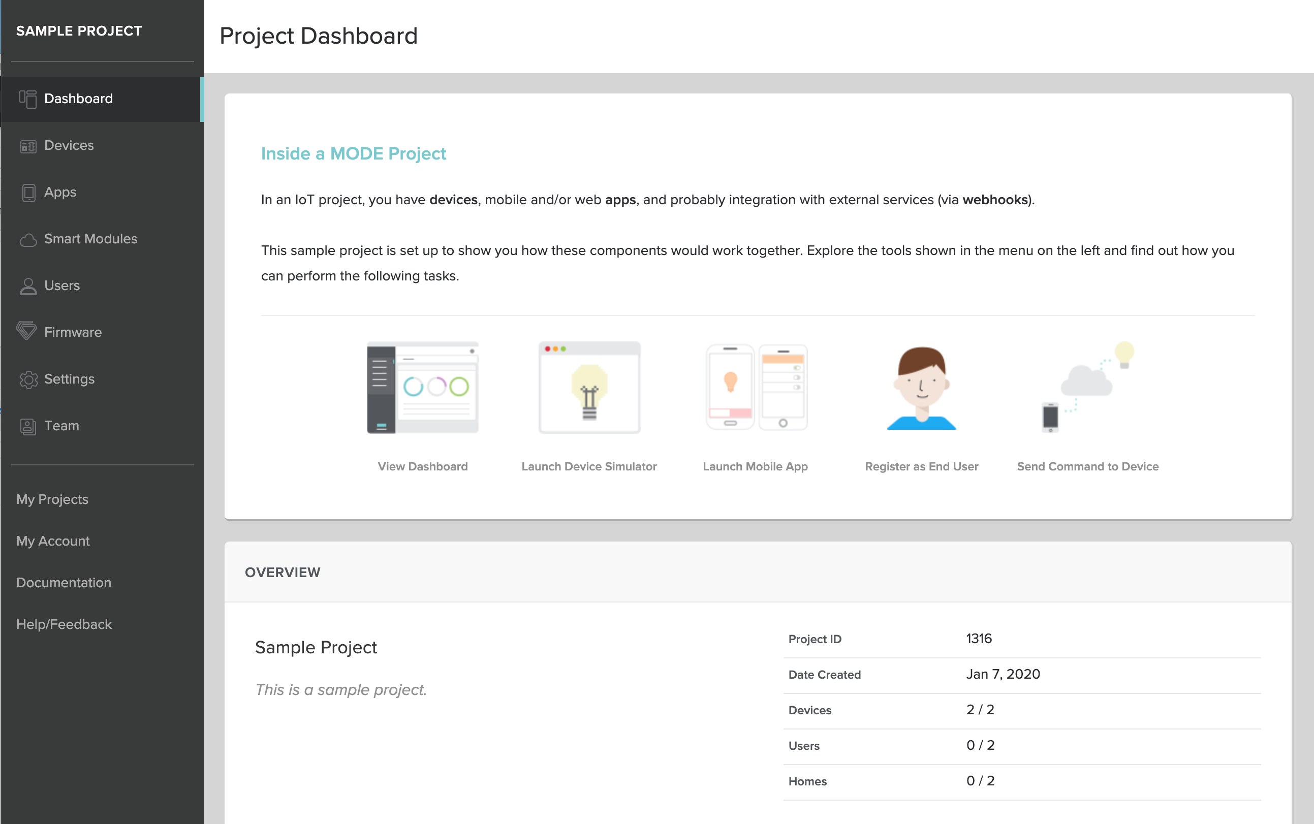 Screenshot - Console Dashboard