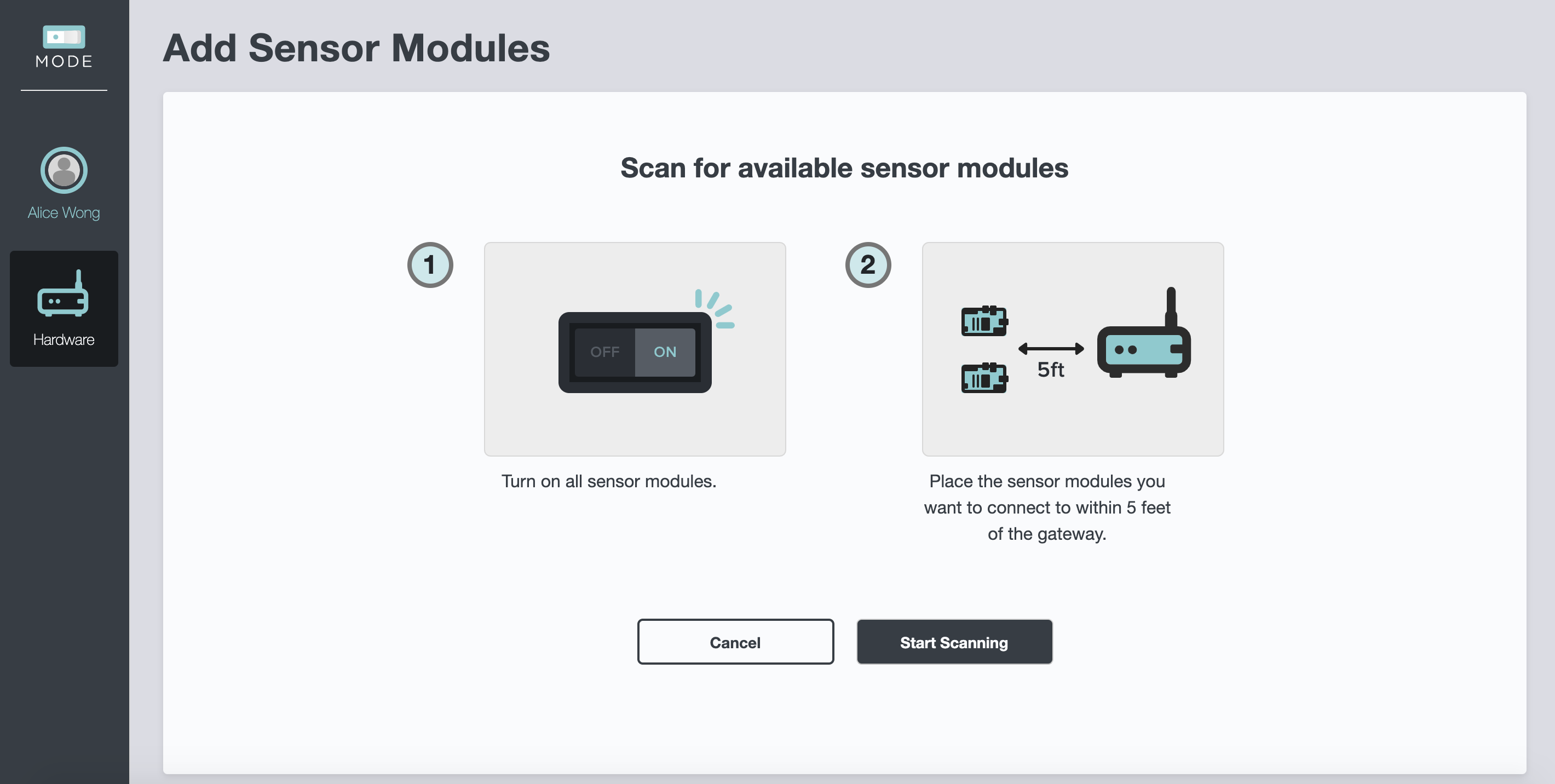 Screenshot - SCEval Scan for Sensors